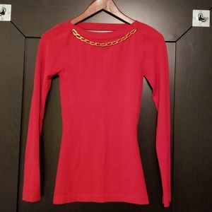 Red fitted Marciano Top